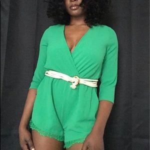 ILLA ILLA Other - Green long sleeve short romper